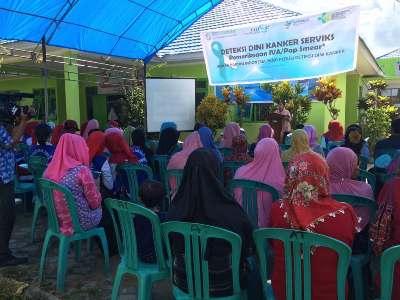 Peringati Hari Kartini, OASE Gandeng BPJS Kesehatan menyelenggarakan kegiatan pemeriksaan IVA Pap Smear se Indonesia di Puskesmas Abeli. FOTO : BAIM