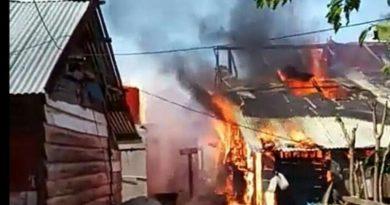 Kebakaran, Diduga Rumah Sopir Tangki Terbakar