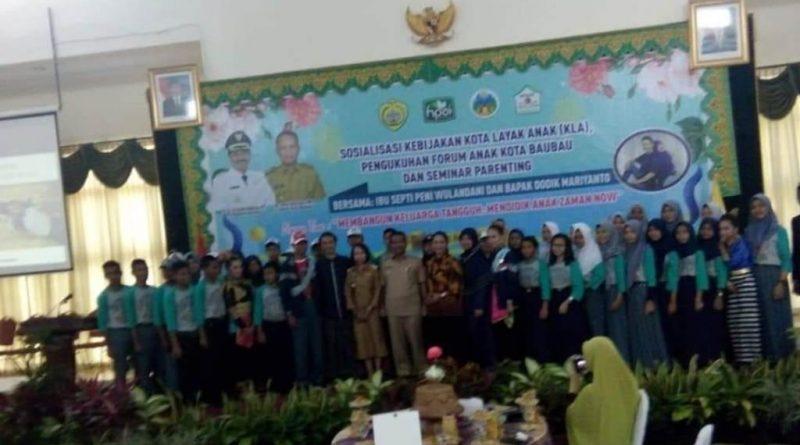 Pj. Wali Kota Baubau Kukuhkan Wujudkan Kota Layak Anak