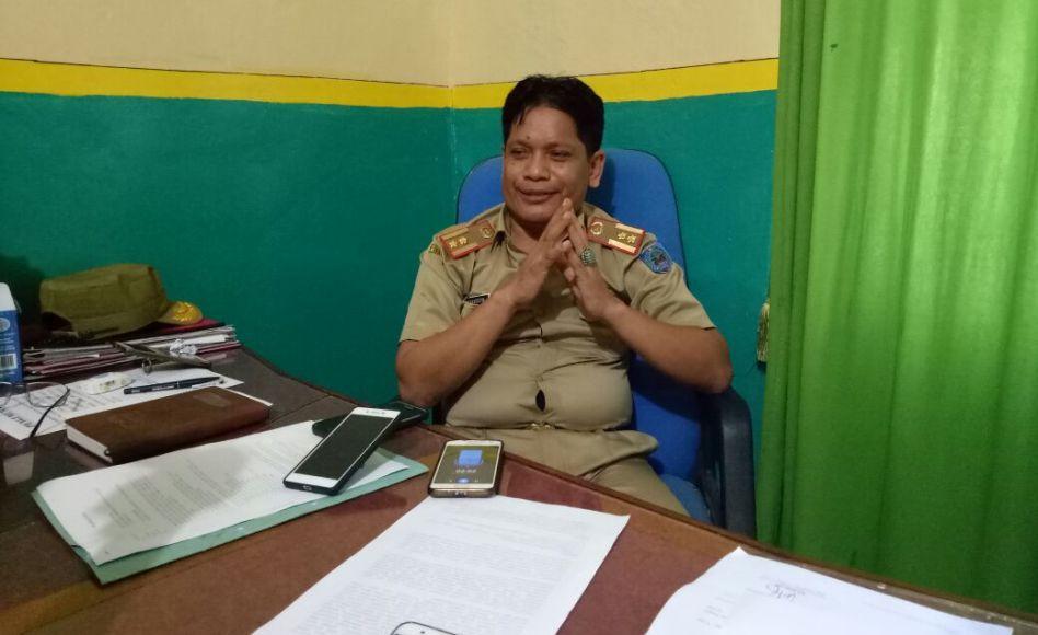 Plt Kepala BLHKP Kabupaten Muna Sanuddin . FOTO : LA ODE AWALUDDIN
