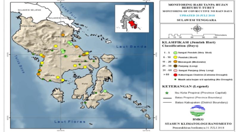BMKG Kendari: Analisis dan Prakiraan Curah Hujan Dasarian Sulawesi Tenggara