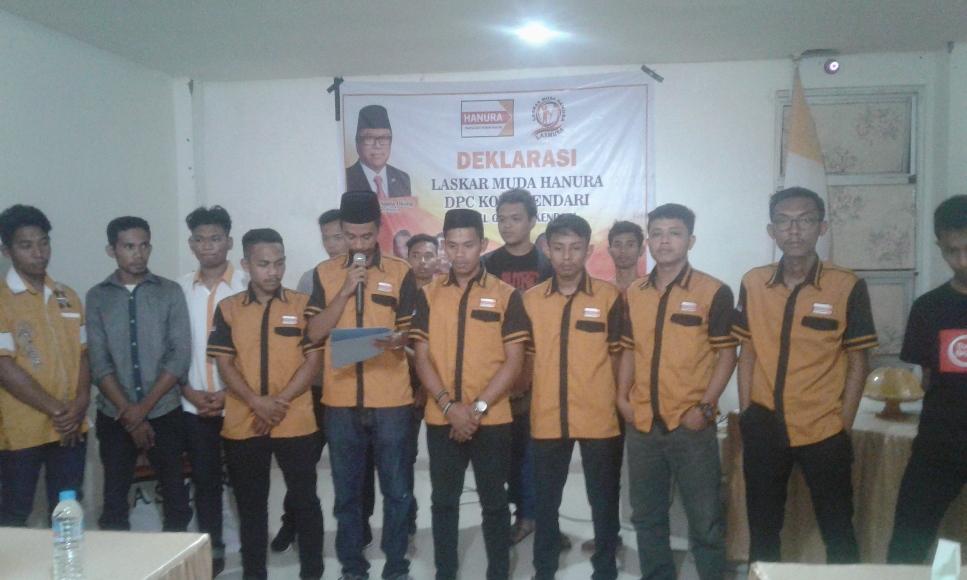 Delakrasi Laskar pemuda Hati Nurani Rakyat (LASMURA) yang di gelar di salah satu Hotel di Kota Kendari. FOTO ; ODEK