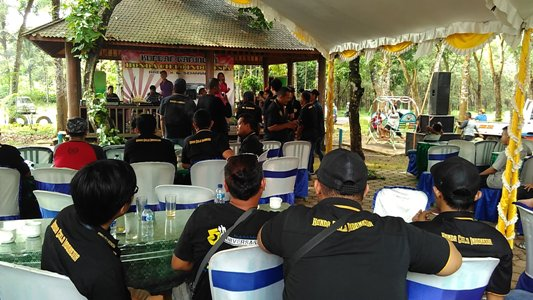 Komunitas Honda Cielo berkumpul kopdar di Jepara Jawa Tengah. Kegiatan ini bertujuan untuk menjaga silaturahmi. FOTO : SDW