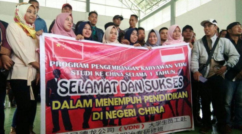 PT VDNI Berangkatkan 46 Karyawan ke China