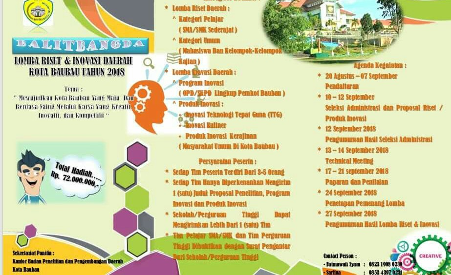 Balitbang Baubau Gelar Lomba Riset dan Inovasi Daerah, Total Hadiah Rp. 72 Juta