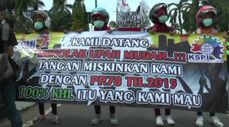 Ratusan Buruh di Jepara Tuntut Upah Layak