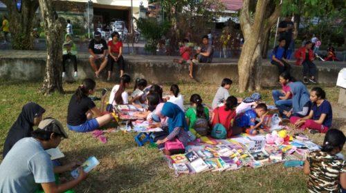 Perpustakaan Keliling Komunitas GPAN Bali Ramai Dikunjungi Pelajar
