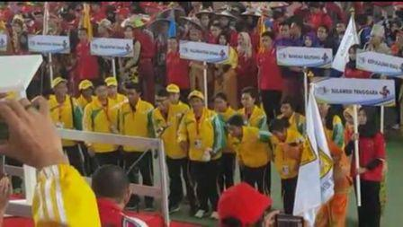 80 Atlet BAPOMI Sultra Siap Taklukan Lawan di POMNAS XV di Makassar