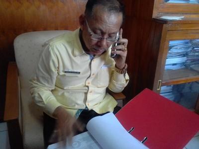 Kepala Biro Umum dan Kepegawaian, Universitas Halu Oleo (UHO) Rafiuddin. FOTO : ILHAM