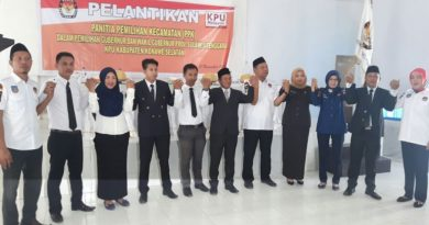 Ketua KPUD Lantik 110 Anggota PPK Se Konsel