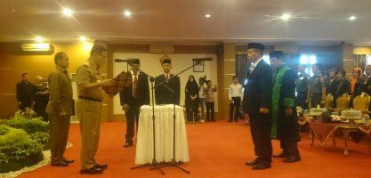 Prof Andi Bahrun, Resmi Dilantik Jadi Rektor Unsultra 2017-2021