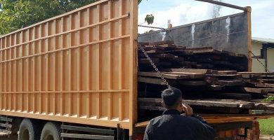 Polda Sultra Amankan Dua Truk Bermuatan Kayu Tanpa Dokumen