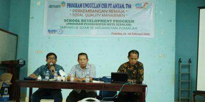 PT Antam dan GLC Indonesia Gelar Seminar Total Quality Manajemen Bagi Guru se Kecamatan Pomalaa