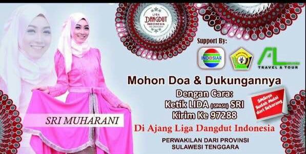 Bupati Dukungan Sri Muharani Hafid Peserta Liga Danggudut Indonesia