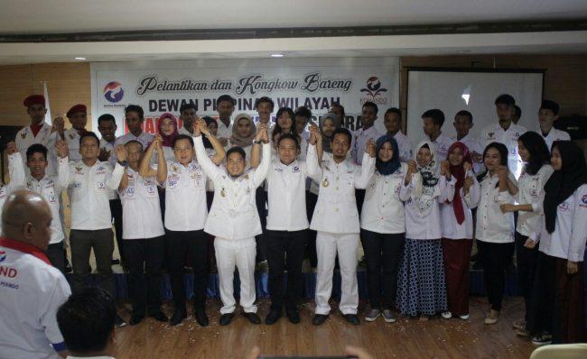70 Angota DPW Komando Perindo Sultra Dikukuhkan