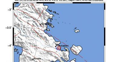 Gempabumi Guncang di Kendari Terasa di Konsel, Gempa Tidak Berpotensi Tsunami