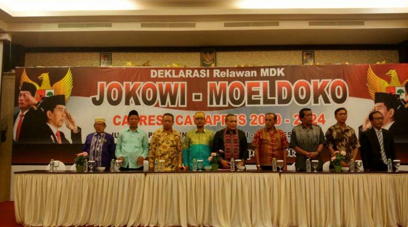 Relawan se Kota Kendari Gelar Deklarasi Untuk Pasangan Jokowi-Moeldoko