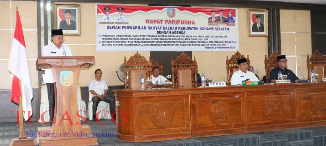 DPRD Setujui Raperda RPJMD-P, Ini Jawaban Pemda Konsel