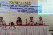Diskumnaker Sampang Sosialisasikan Jamsostek