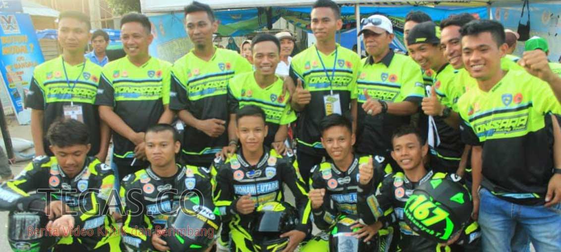 Tim Balap Motor Asal Konawe Utara Sabet Tiga Medali Emas