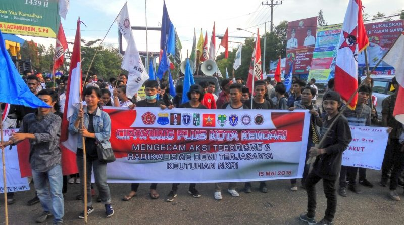 Demo, Cipayung Plus Kota Kendari Kecam Aksi Terorisme