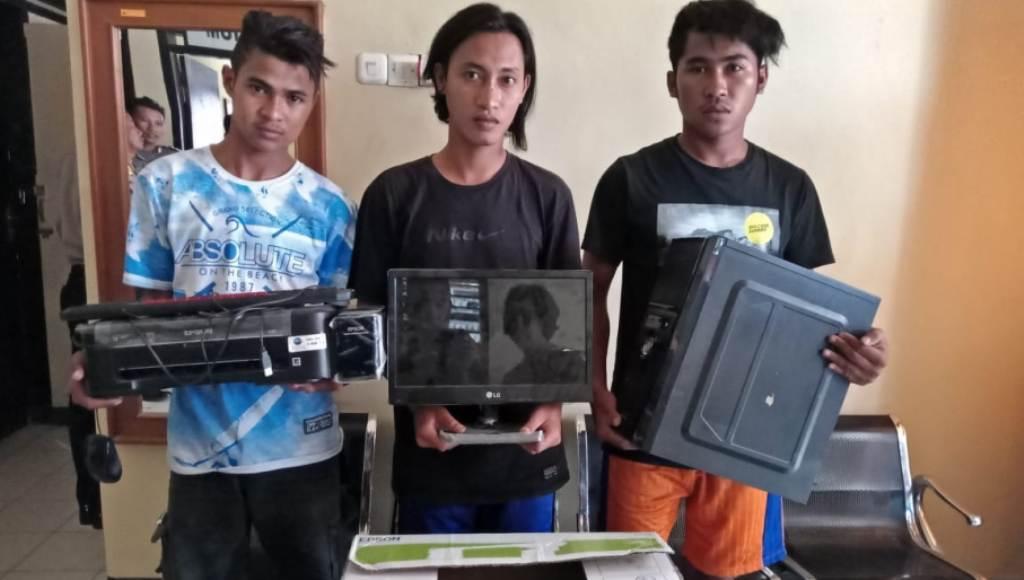 Tiga Warga Kolut Spesialis Maling Barang Elektronik Diringkus Aparat