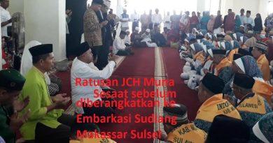 Pemda Muna Bantu 65 Jemaah Calon Haji yang Berangkat ke Mekkah