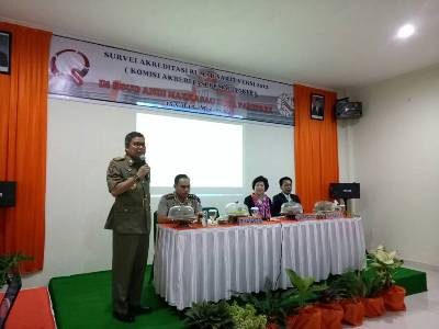 Tim Survei Akreditasi Paripurna di RSUD Andi Makkasau. FOTO : JERI