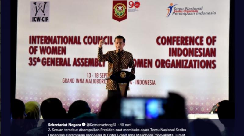 Seruan Jokowi di Acara Temu Nasional Seribu Organisasi Perempuan Indonesia