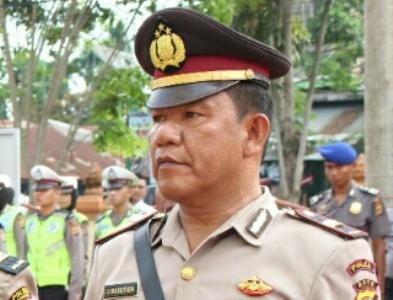 Kapolsek Langsa Barat IPTU Jamaludin Nasution. FOTO : ROBY SINAGA