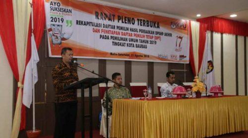 Komisi Pemilihan Umum Baubau Kembali Perbaiki Daftar Pemilih