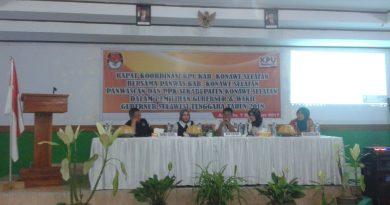 KPUD Konsel Gelar Rakor Bersama Panwaslu Kabupaten