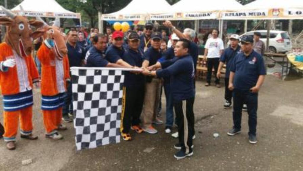 Sosialisasikan Pilgub, KPU Sultra Gelar Jalan Santai