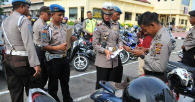Kasat Lantas Dadakan Periksa Kendaraan Anggota Polres Langsa