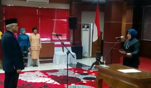 Pelantikan sekretaris kota Probolinggo. FOTO : ASL