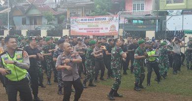 Polres Baubau Gelar Olahraga Sinergitas Bersama TNI