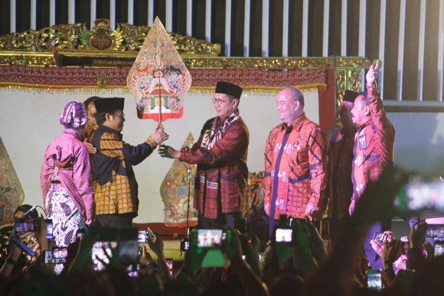 Menteri Agama RI Lukman Hakim Saefuddin Membuka Secara Resmi AKSIOMA dan KSM Tingkat Nasional. FOTO : NADHIR ATTAMIMI