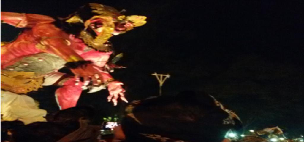 Ratusan Ogoh-Ogoh Ramaikan Hari Raya Nyepi 2018 di Kota Denpasar