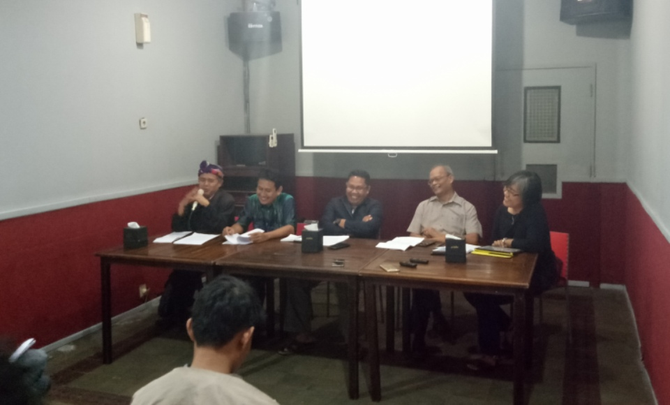 KPPSI Tolak Draft Revisi UU Penyiaran Versi Baleg DPR RI FOTO : NADHIR ATTAMIMI