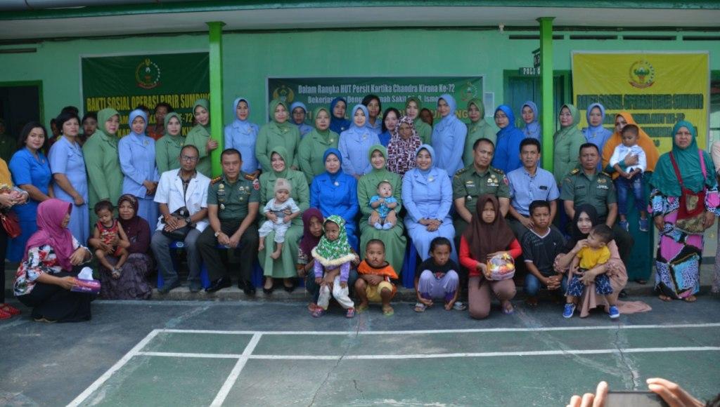 Dihari Persit KCK Ke-72 & Dharma Pertiwi Ke-54 Gelar Operasi Bibir Sumbing Gratis