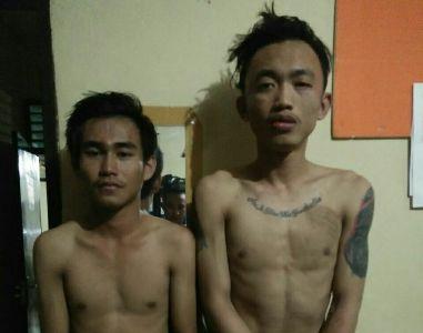 Dua Jambret yang diamankan jajaran Polsek poasia. FOTO : ONNO