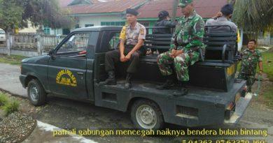 Milad GAM ,TNI-Polri Patroli Antisipasi Pengibaran Bendera Bulan Bintang