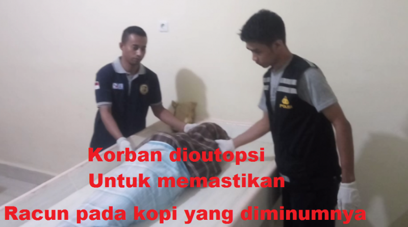 Seorang Warga Bombana Tewas Setelah Meneguk Kopi Beracun