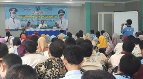 Sosialisasi Program Keluarga Harapan (PKH) di Kabupaten Probolinggo akan cair dan keluarga penerima manfaat (KPM). FOTO : ASL