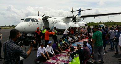 Horreee.. Garuda Indonesia Mengudarah di Wakatobi