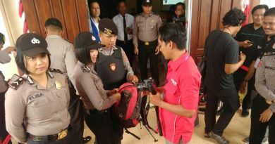 Amankan Pendaftaran Paslon Gubernur Sultra, Polisi Jaga Ketat Kantor KPU