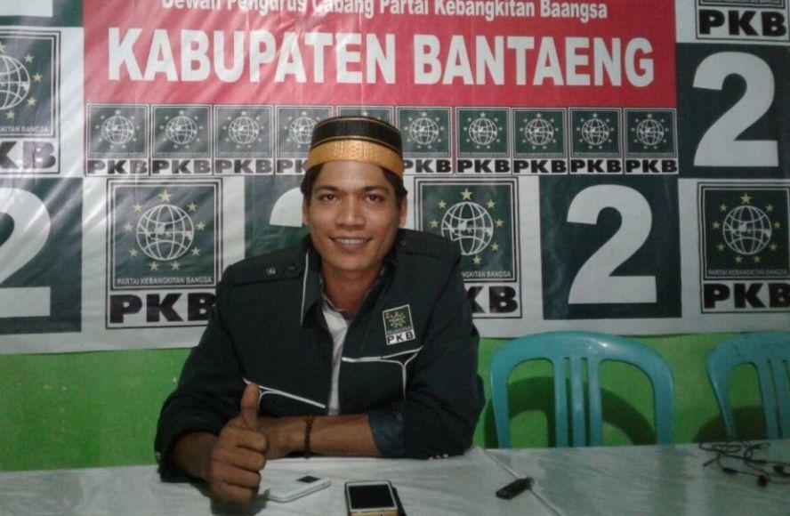 Sekretaris DPC PKB Bantaeng Muh Sabran. FOTO : DOK TEGAS
