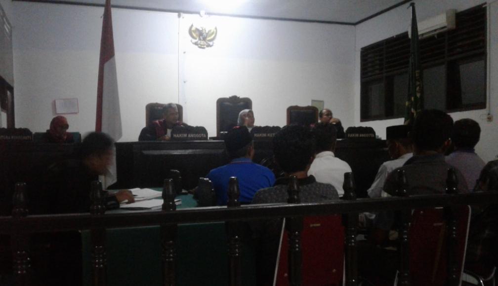 Sidang kasus korupsi percetakan sawah di Pengadilan Negeri Tindak Pidana Korupsi , Kendari. FOTO : ODEK