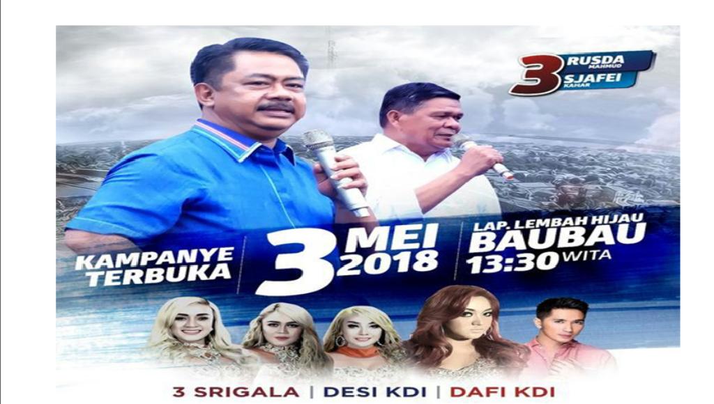 Wow ! RM-SK Bakal Kampanye Terbuka Hadirkan Tiga Srigala