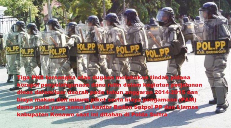 Diduga Korupsi Dana Uang Makan, Polda Sultra Tahan 3 PNS Konawe